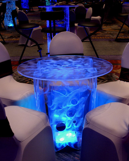 Rent lighted acrylic cocktail tables bars lounge furnitureLED